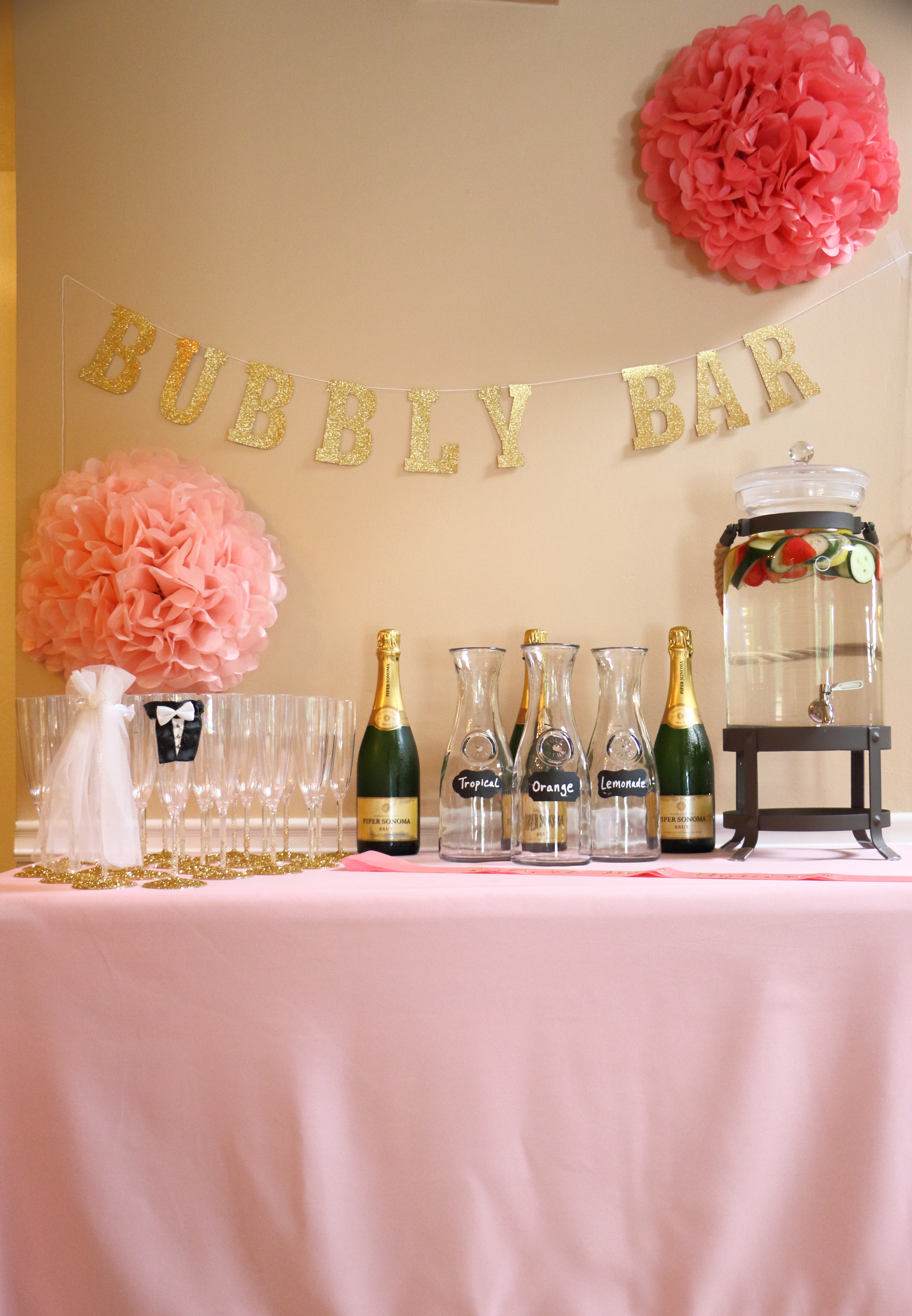 Bubbly Bar - Perfect addition to any bridal shower!