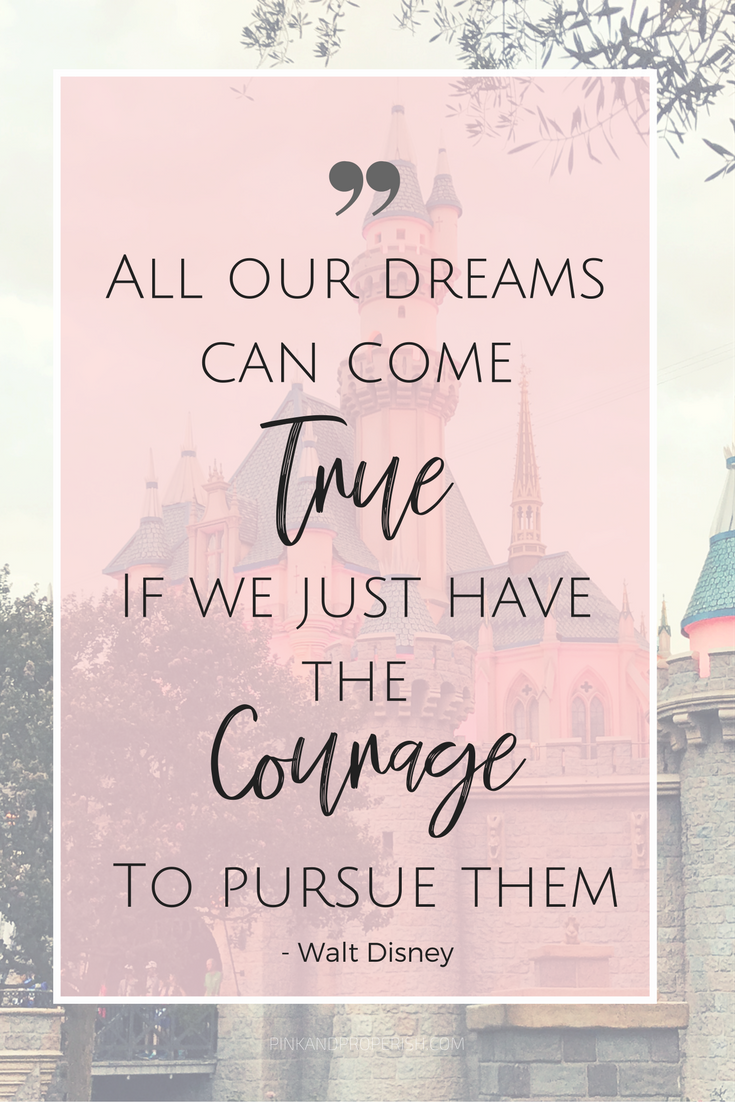 10 Inspirational Walt Disney Quotes to get you through any rough patch! Walt Disney is one of the most well known names in the world. Can you imagine a world without Disneyland? Everyone can use a little inspiration!