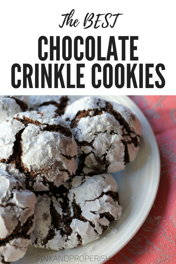 How to make the BEST Chocolate Crinkle Cookies