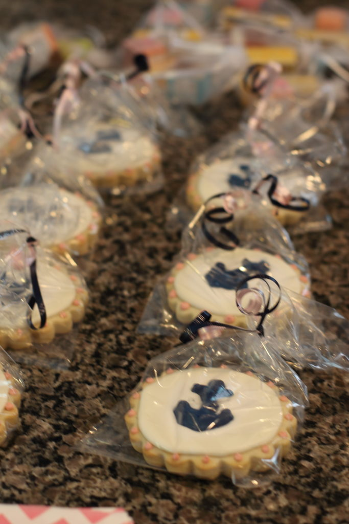 Nautical themed bridal shower cookies
