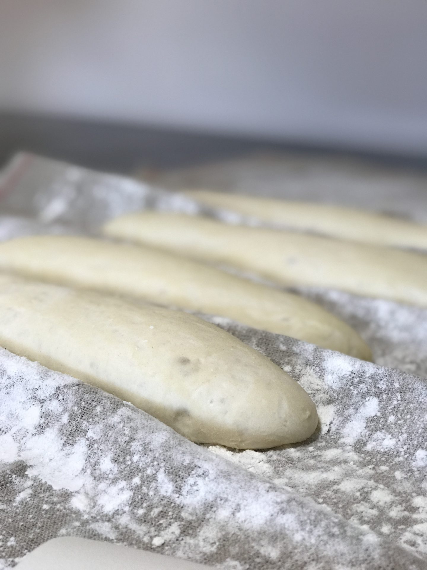Learn how to make some delicious crunch french bread! Making bread is actually a lot easier than you would think! This simple, 4 ingredient recipe will make the BEST french bread. Give it a try!